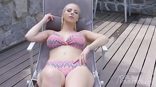 hot blonde nathaly cherie giving a rimjob