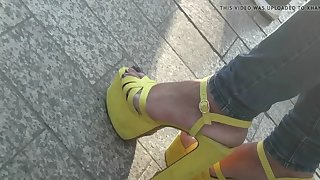 milf in amazing high heels sandals