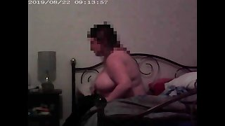 my big girlfriend and pregnant, hidden camera