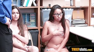 petite thief stepsisters got caught and punish fucked