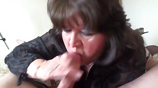pov sucking and wanking him off swallowing his cum