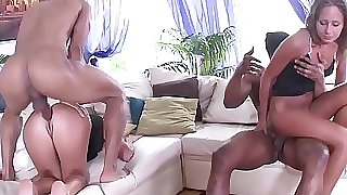 Fit to Plow Russian Babes - 2on2 Black on White Buttfuck Hook-up with DP